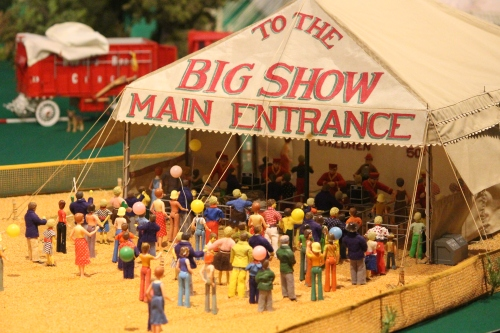 Lining up for the Big Show -- in miniature -- at Tibbals Learning Center at The Ringling, Sarasota, Florida