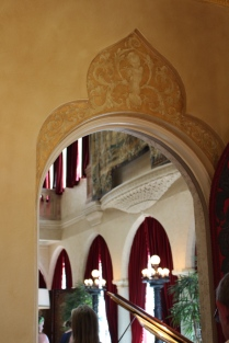 Arched doorway with embellishments at Ca' d'Zan