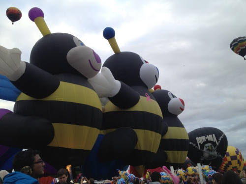 Three bees in a row!
