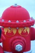 Fiery eyes on this fireplug