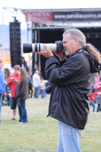 "We saw some mighty big cameras at Balloon Fiesta 2014.  No wonder it's called the ""most photographed event in the world."""