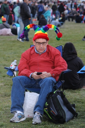 Tweeting out his best shots, this colorful guy set up camp on the launch field and  had a ball!