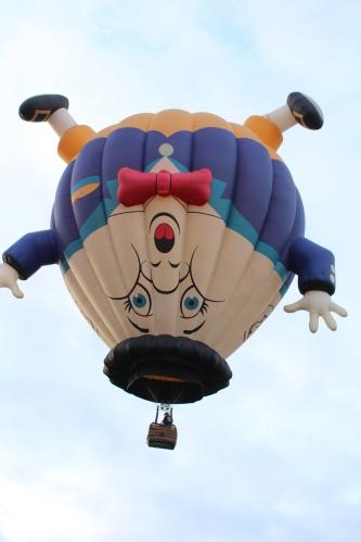 Of course, he's upside down. He's Humpty Dumpty!!