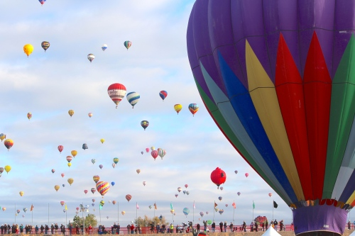 Into the sky -- at Albuquerque's Balloon Fiesta