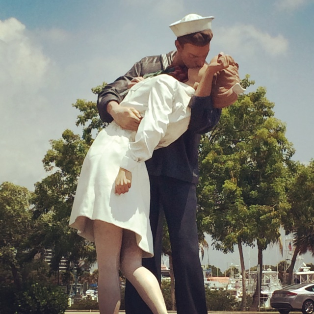 """Unconditional Surrender"" down by the marina in Sarasota, Florida"