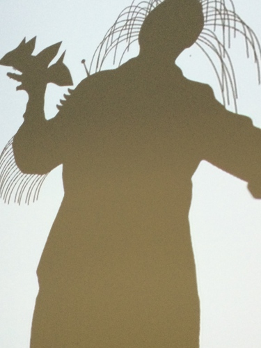 out of my elbow, stick up out of my head at Shadow Monsters, MFAH.