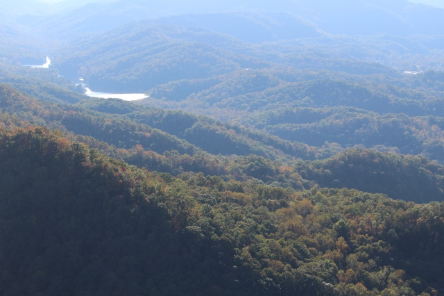 Although the colors haven't turned brilliant yet, you can sense the beauty all around at Cumberland Gap from Pinnacle Overlook.
