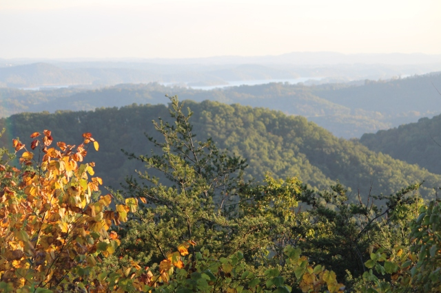 A spectacular view of the mountains from Pinnacle Overlook at Cumberland Gap National Historical Park