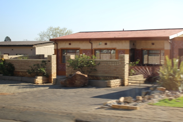 Private home with brick wall - Soweto
