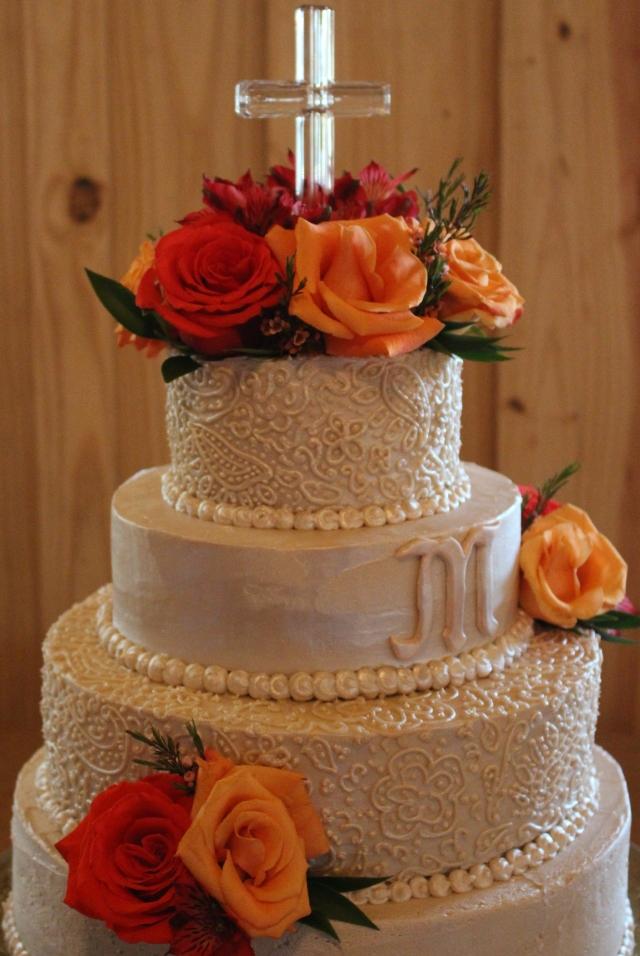Lovely fall wedding cake