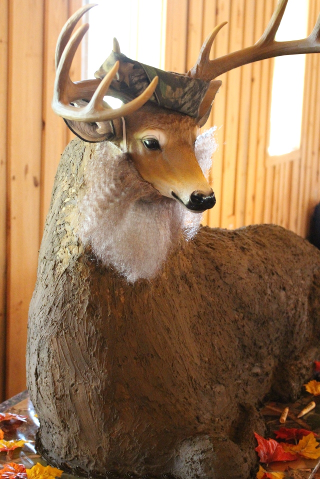 Groom's cake -- a six-foot deer!