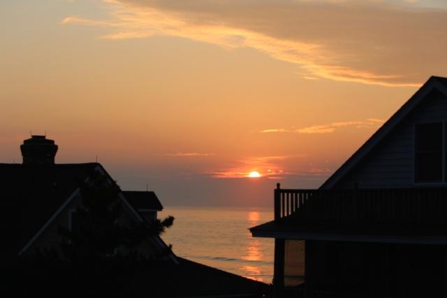 Sunrise from the widow's walk at Pawleys Island, SC.