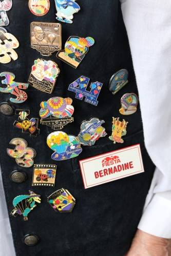 Bernadine's been to all Balloon Fiestas -- and has the pins to prove it!