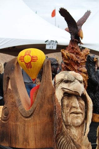 Up for bid: carvings at Balloon Fiesta 2014