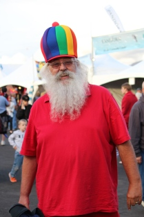Santa in balloon hat -- Balloon Fiesta 2014