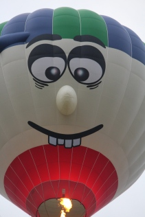 Funny face balloon -- Albuquerque's Balloon Fiesta 2014