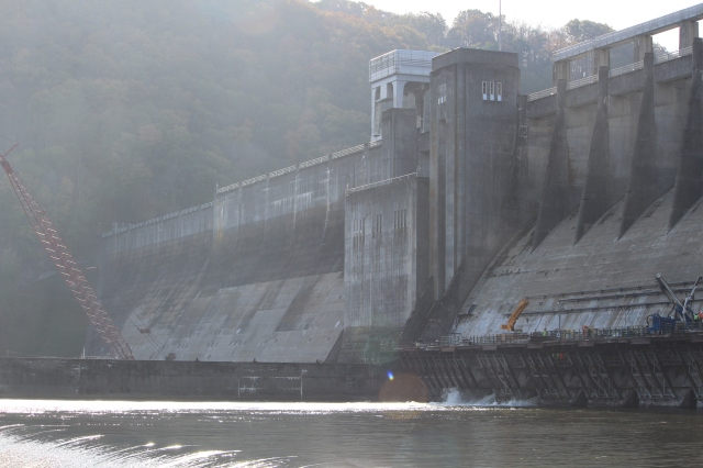 Early morning at Bluestone Dam in West Virginia