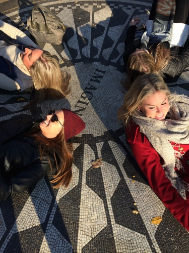 Group pic: Strawberry Fields Memorial, Central Park