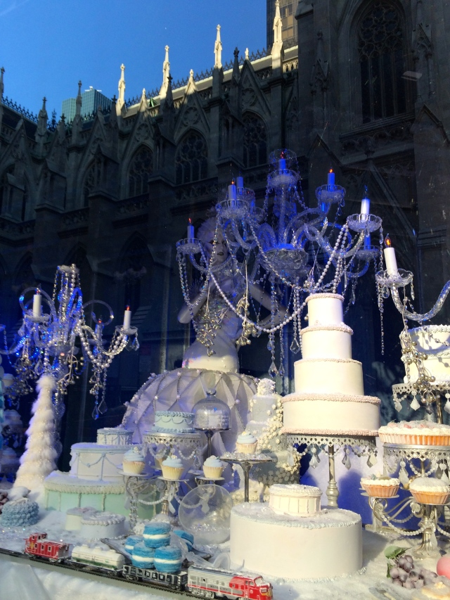 Cakes and candelabras added to the ambience of the Winter Palace theme at Saks.