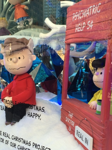 Not even Lucy can cheer up Charlie Brown this Christmas.