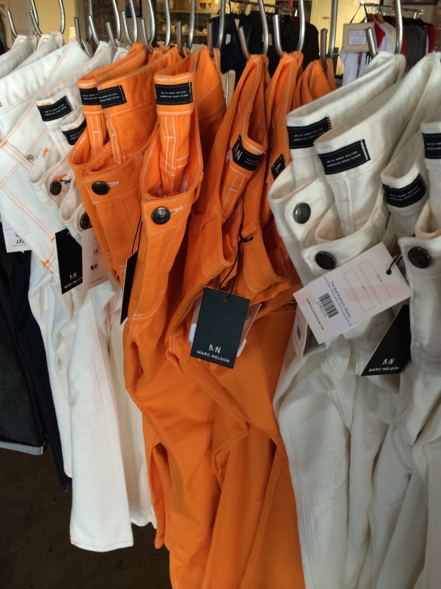 Orange and white jeans. Gotta have 'em in Big Orange country!