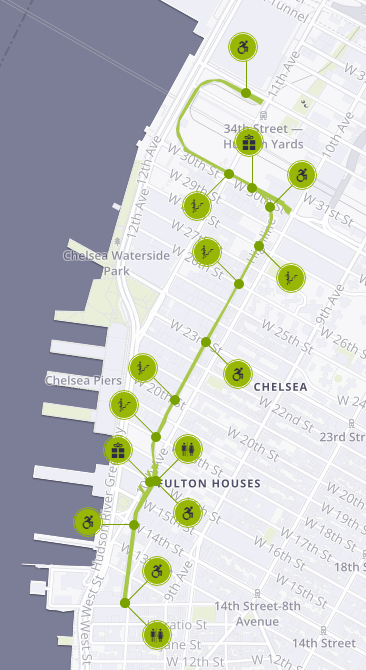 Chelsea market manhattan map