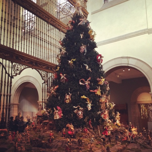 Baroque Christmas tree at Metropolitan Museum of Art
