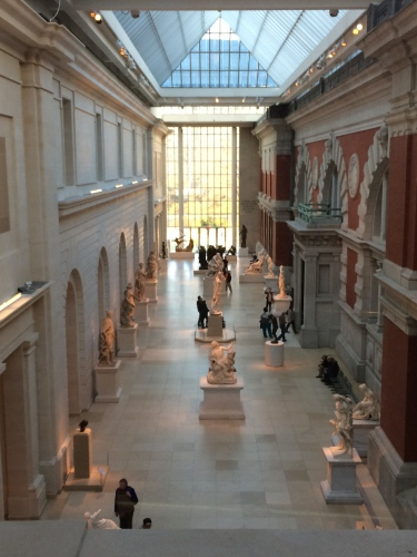 Inside the stately Metropolitan Museum of Art, NYC
