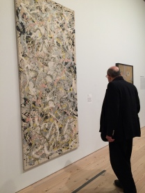 Admiring the work of Jackson Pollock