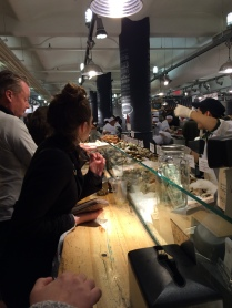Stand and order, stand and eat at Chelsea Market.