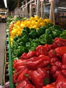 Colorful peppers at Chelsea Market