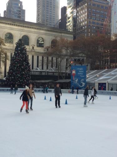 Skating rink at Bryant Park