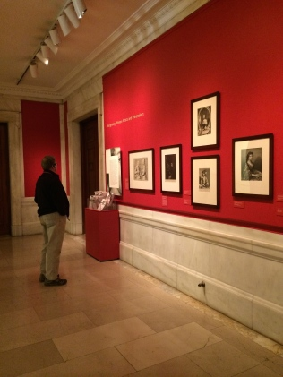 Printing Women exhibit -- hallway of New York Public Library