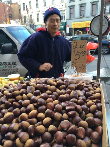 Chestnut vendor, Chinatown, NYC