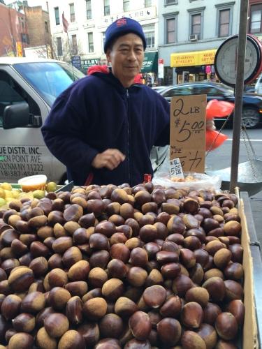 Chestnut vendor, Chinatown, NYC