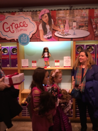 The Girl of the Year 2015 section at American Girl NYC.  This was Grace Thomas's home for the holidays!!!