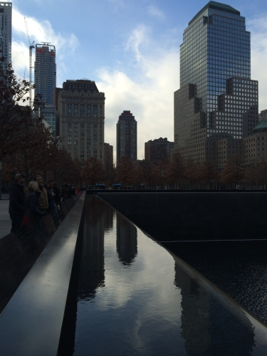 Awesome view from plaza beside 9/11 Memorial Museum