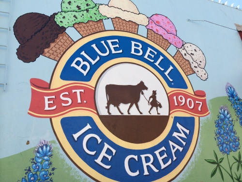 What we came for:  Seeing how Blue Bell is made!  (OK.  This is not square.  We know.)
