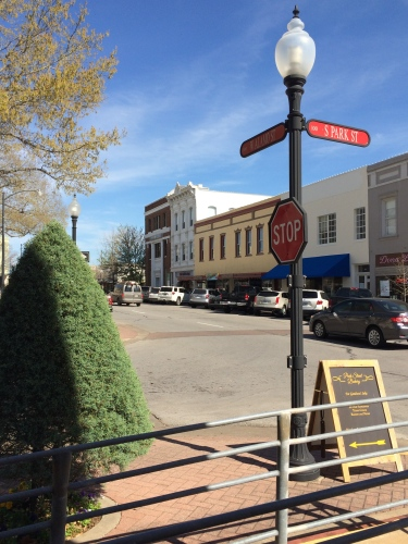 Downtown square in Brenham, Texas.