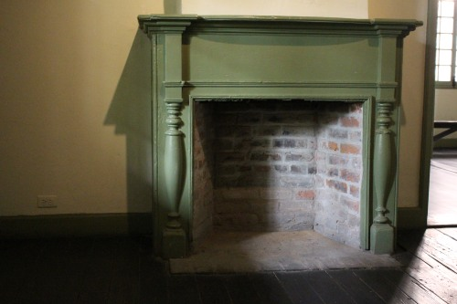 Preserved 1788 fireplace in Madame John's Legacy, now a Louisiana State Museum