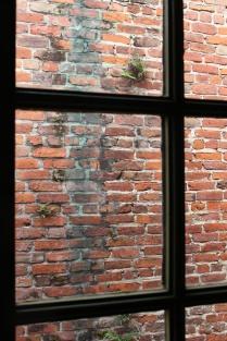 Aging, handmade brick wall