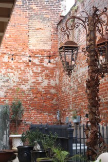Old courtyard walls, French Quarter