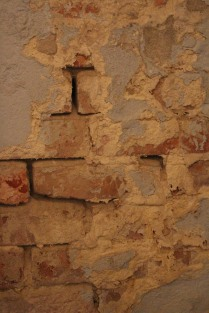 Plaster and brick showing age, French Quarter