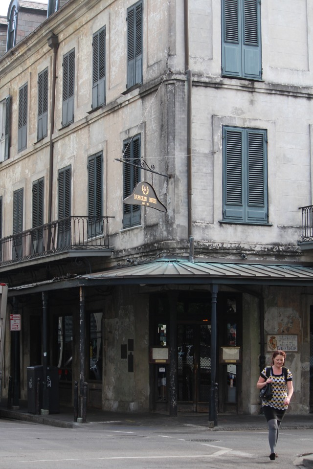 Leave it alone -- we love it! The aging exterior of Napoleon House, New Orleans French Quarter.