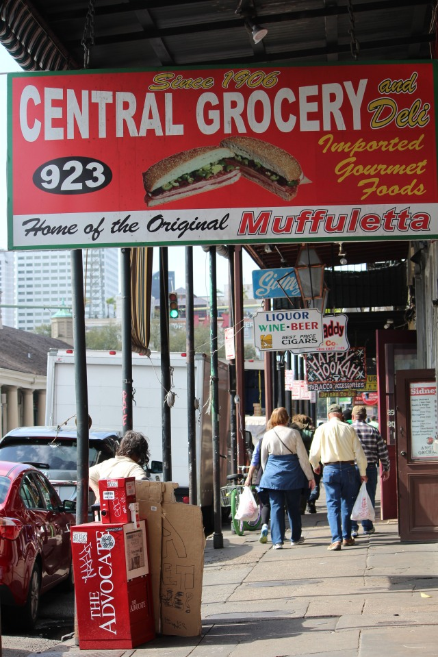 Colorful storefront on Decatur Street lures you into the land of good eating: Central Grocery
