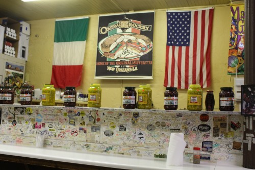Bar at Central Grocery: New Orleans
