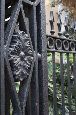 Detail of ironwork fence, French Quarter