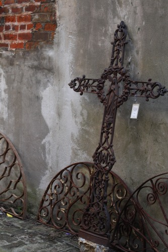 Ironwork for sale at shop in French Quarter