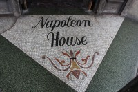 Entry tiles: Napoleon House, New Orleans French Quarter