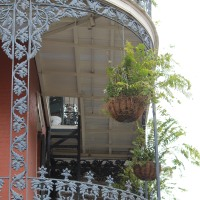 Iron works in New Orleans' French Quarter